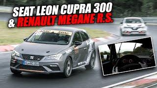 Seat Cupra Racecar & Megane R.S. Having Wet Nürburgring Fun!