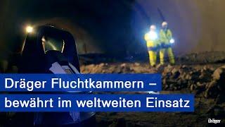 Licht am Ende des Tunnels - Fluchtkammern von Dräger