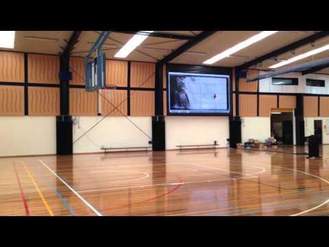 "DIB Australia - 220"" Gymnasium Video Wall Bacchus Marsh Grammar School"