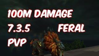 100 MILLION DAMAGE - 7.3.5 Feral Druid PvP - WoW Legion