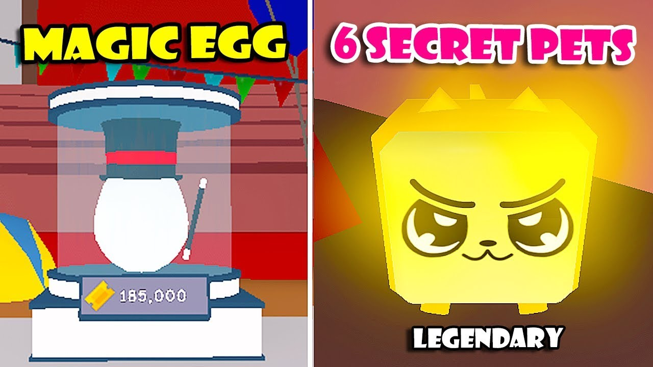 New Circus Update Magic Egg 6 Secret Pets Mythical Dragon