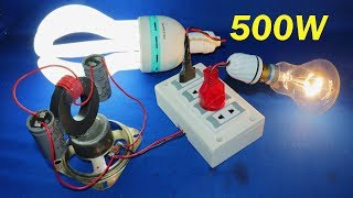 Free Electricity Generator 240V Electric Generator Light Bulb AC Electric Experiment 2019