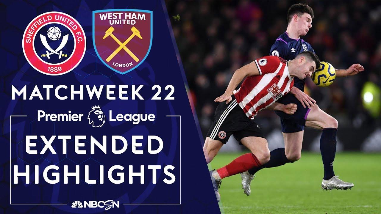 Sheffield United v. West Ham | PREMIER LEAGUE HIGHLIGHTS | 1/10/2020 | NBC Sports