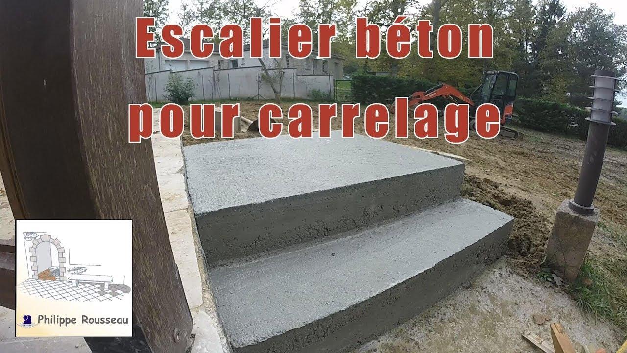 Escalier Beton Pour Carrelage Youtube