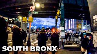 ⁴ᴷ⁶⁰ Walking NYC : Mott Haven, South Bronx to Yankee Stadium during Twilight