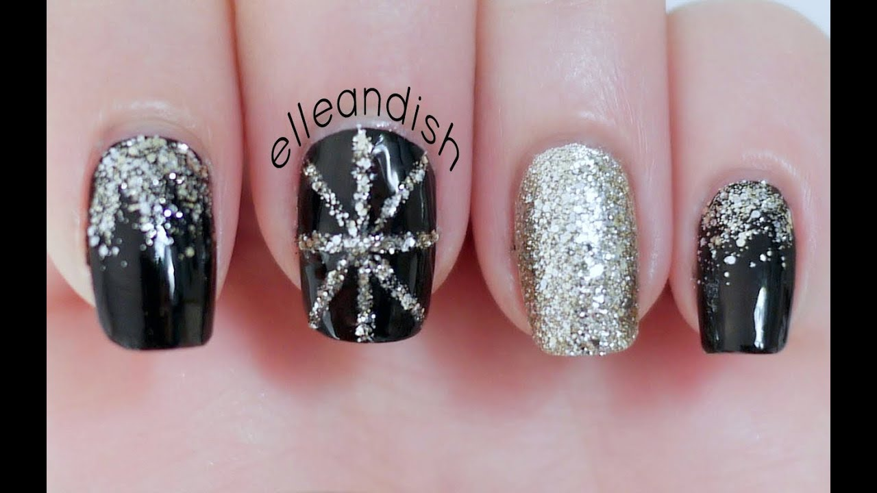 New Year\'s Eve Party Nails - YouTube