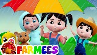 mưa mưa biến đi | vần cho trẻ em | điệu mùa mưa vần | Rain Song | Farmees Rhymes | Rain Rain Go Away