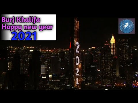 Burj khalifa/dubai Fireworks on new year 2021