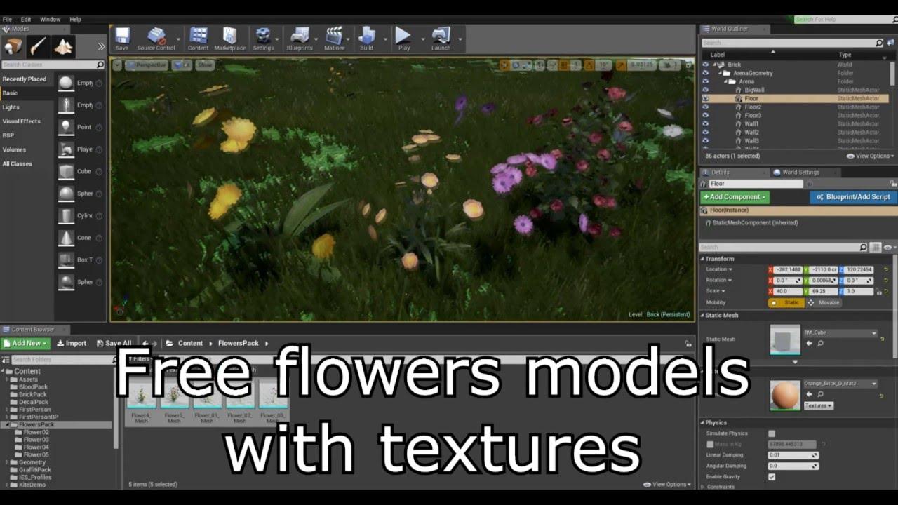 (Free) Vegetation Flower Pack #1