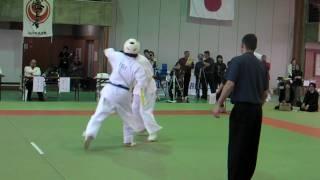 全中国空手交流試合 2009決勝戦 優勝!