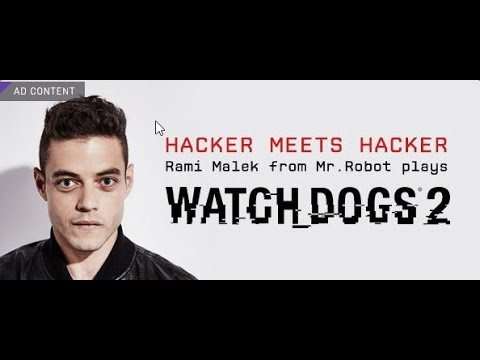 Watch Dogs 2 with Mr  Robot's Rami Malek Live