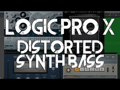 Logic Pro X - Distorted Percussive Synth Bass (ES2 + Arpeggiator + Distortion + Sidechain Ducking)