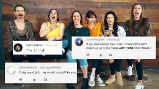 REACTING TO HATE COMMENTS - James Charles collabs/Fake Love Cover