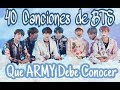 Download 40 Canciones de BTS que ARMY Debe Conocer PT.1