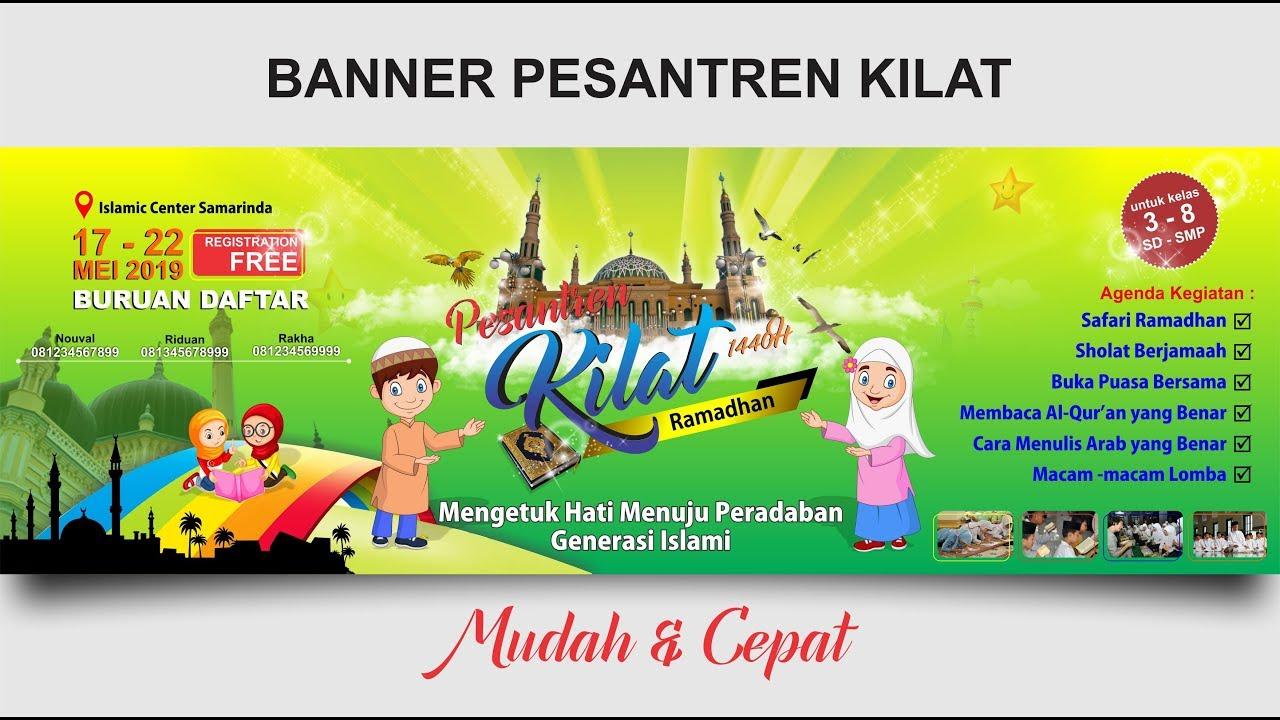 Desain Spanduk Pesantren Kilat Di Coreldraw Ramadhan Banner