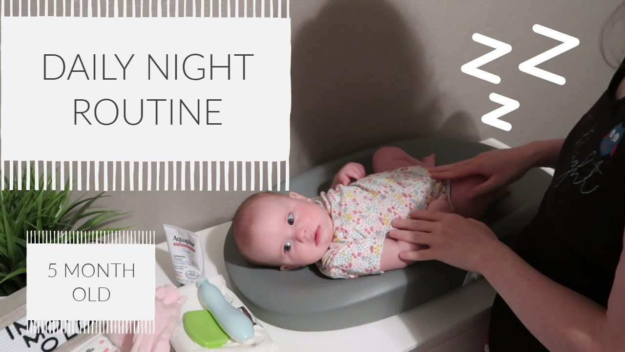 DAILY NIGHT ROUTINE // 5 MONTH OLD - YouTube