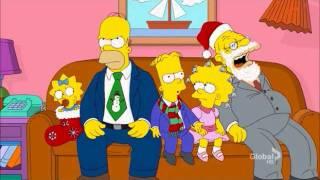 The simpsons Christmas card slide show