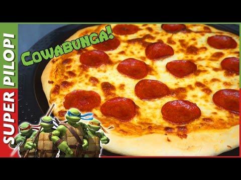 Pizza Pepperoni de las Tortugas Ninja - Receta