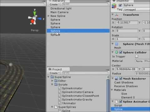 Supersplines creating a road in the unity 3d editor youtube 3d editor