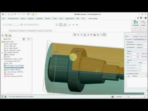 Creo 3.0 Tutorial Nc Manufacturng And Simulation Of Material ( Creo, Pro E, Creo2.0, Design)