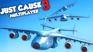 ON A TENTÉ L'IMPOSSIBLE ! (JUST CAUSE 3 Multiplayer Fun)