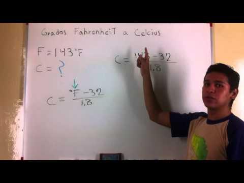 Grados Fahrenheit a Celsius