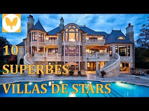 10 SUPERBES VILLAS DE STARS