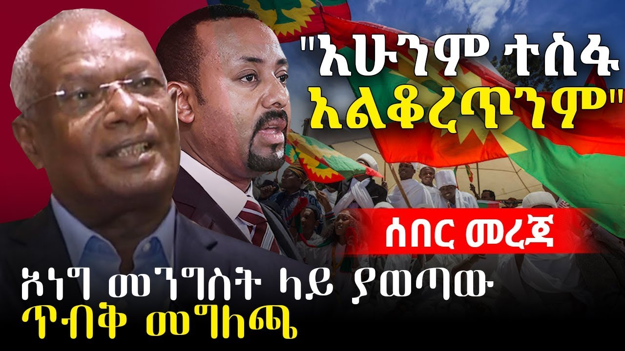 OLF Press Release  | PM Abiy Ahmed