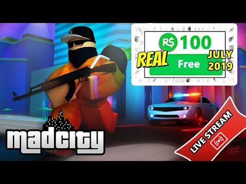 FREE ROBUX GIVEAWAY!! MAD CITY 2019 FREE ROBUX IN ROBLOX GAME!! thumbnail