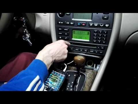 AUX в штатной магнитоле с CD Jaguar X-type