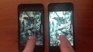 Сравнение N.O.V.A. 3 на IPhone 4 и iPod touch 4g