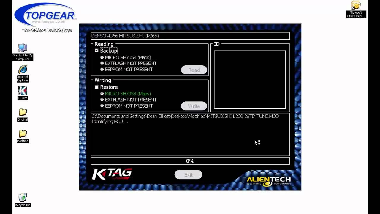 Ktag writing demonstration on a Denso ECU YouTube