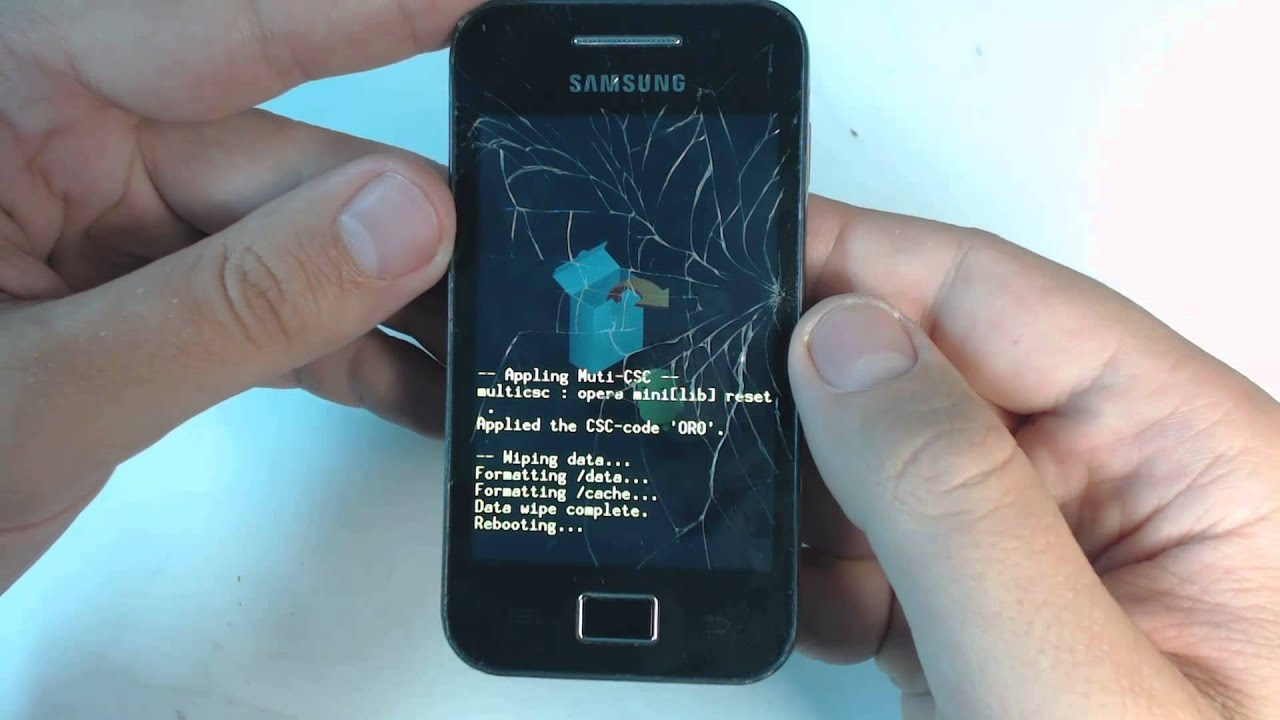 Samsung Galaxy Ace S5830 hard reset - YouTube