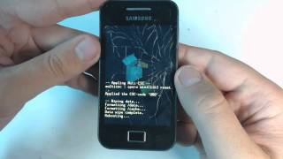 Samsung Galaxy Ace S5830 hard reset(1.Power off your phone 2.Press together home button + power button 3.Browse with volume buttons and select