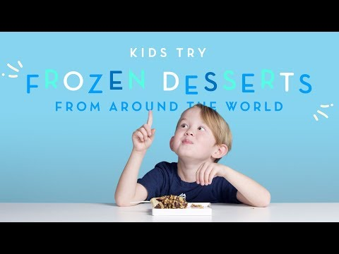 Kids Try Frozen Desserts From Around The World | Kids Try | Cut