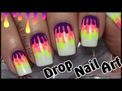 einfache bunte tropfen n gel selber machen easy nail art. Black Bedroom Furniture Sets. Home Design Ideas