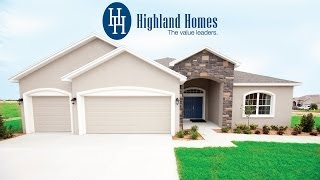 Windemere Home Plan By Highland Homes - Auburndale, Florida New Homes For Sale