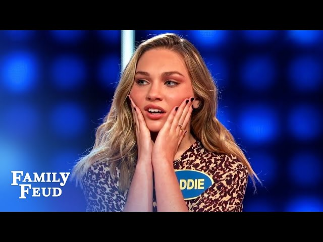 Would THIS slide off a bald guy's head? | Celebrity Family Feud