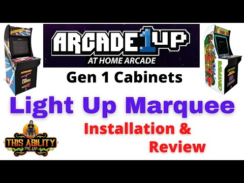 """Arcade1UP - Light Up Marquee Install & Review - Gen 1 Cabinet - Angel Otero / """"This Ability"""" - A1UP from Scott Farrar"""