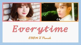 Download Chen (첸) & Punch (펀치) - Everytime Lyrics (Color-Coded Han/Rom/Eng) Mp3