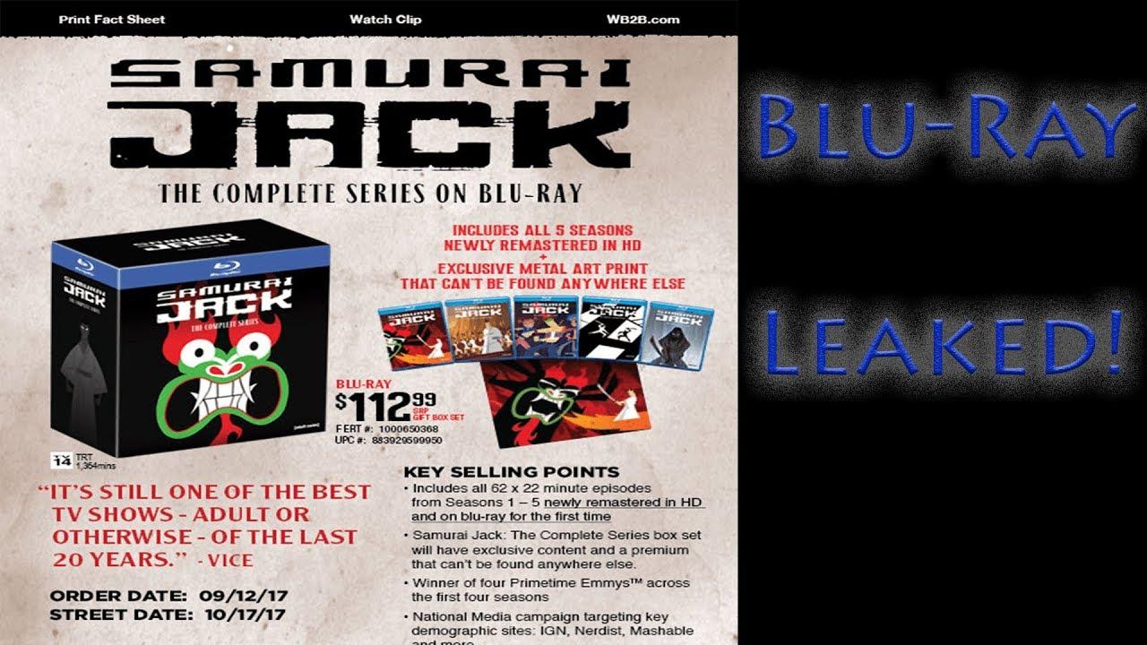 samurai jack blu ray special features