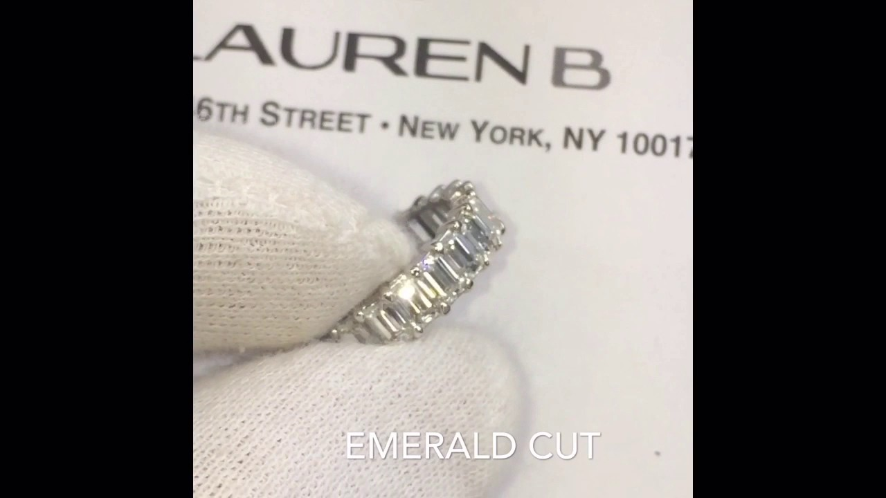 stone sets cut gold band wg ring solitaire white with nl matching carat emerald wedding bands jewelry diamond engagement eternity in