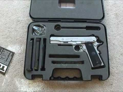 Taurus PT1911 9mm overview, changed recoil spring, 10 round magazines