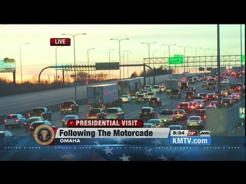 Live report: I-80 traffic check as President Obama's motorcade departs Omaha