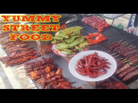 Asian Street Food   Cambodian Food,grilled chicken legs,Beef Stick,Beef Hot Dogs,rice cake(part 15)