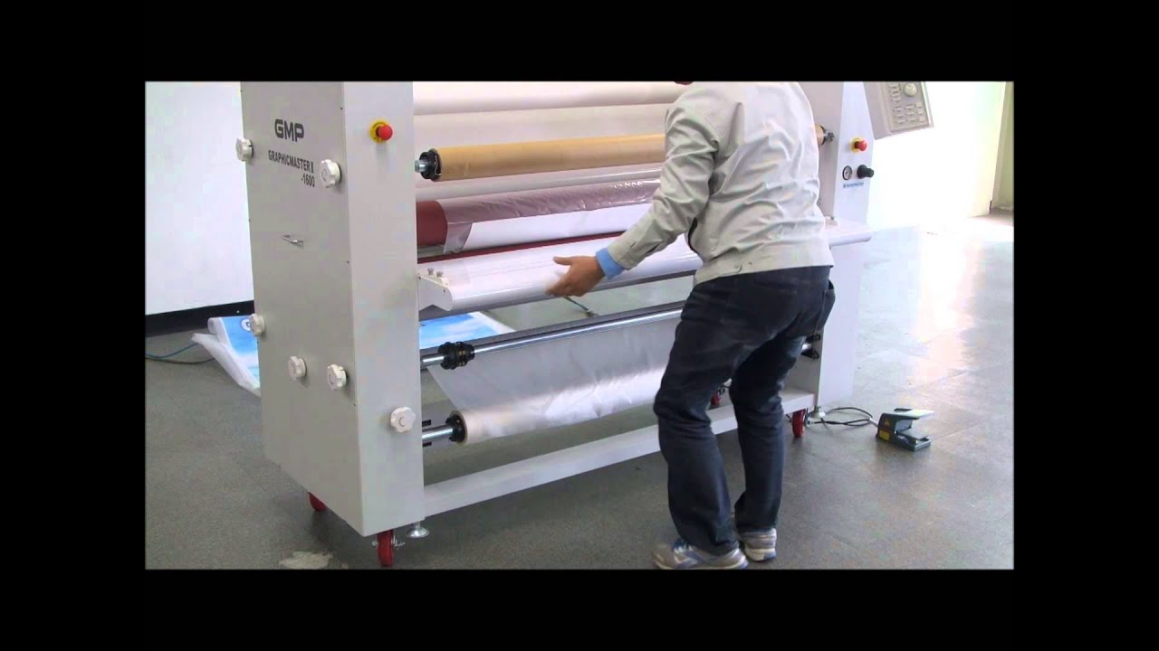 GMP How to operate Large Format Graphic Roll Laminater GMP GRAPHICMASTER  III-1600