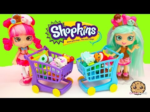 Unboxing Shopkins Season 4 & 2 At Small Mart Shopping With Shoppies Peppa Mint + Donatina