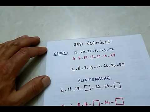 3 Sinif Matematik Sayi Oruntuleri Bulbulogretmen Youtube