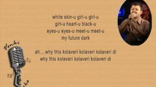 Why This Kolaveri - Karaoke For Male Singer