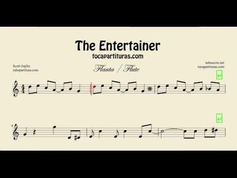 The Entertainer Easy Sheet Music for Flute